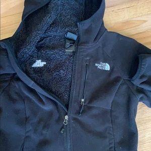 Women's black North Face full zip fleece jacket